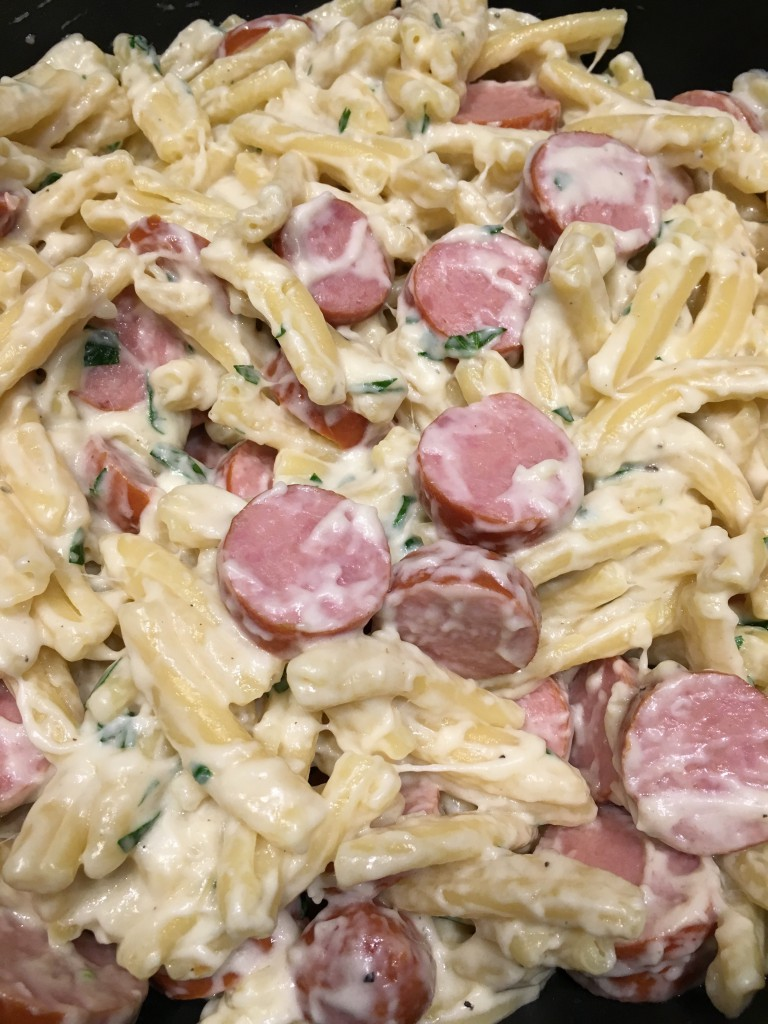 30 minute Alfredo with sausage