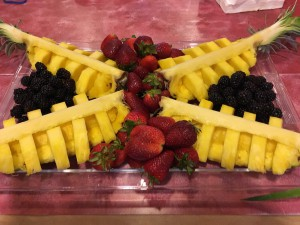 Pineapple Boats on Fruit Tray