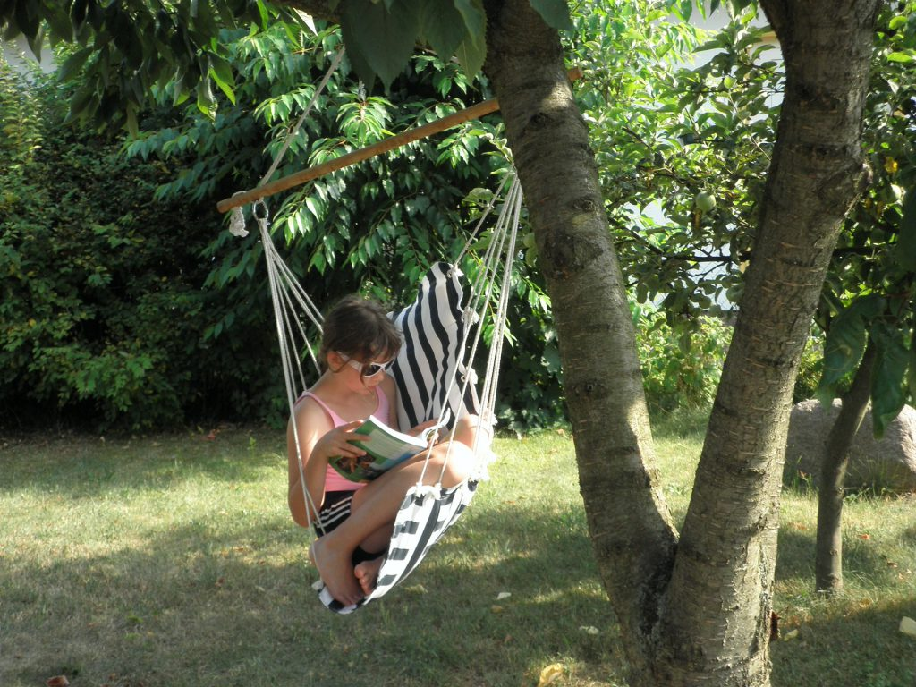 Summer reading hammock